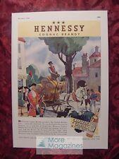 1936 Esquire Advertisement HENNESSY Cognac Brandy Streamline Sparklet Syphon