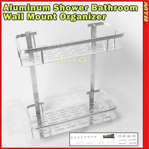 Shower Caddy Basket 12 Inch Organizer Aluminum Wall Mount Bathroom Rack Shelf