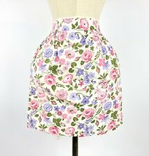 New listing Vtg 50s Printed Half Waist Floral Cocktail Apron Fabric Cottage Pocket Organza