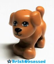 LEGO Friends Brown/Flesh DOG Standing Blue Eyes Black Nose Mouth Pet 41055 3183