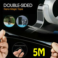 5M Nano Tape Gel Grip Double Sided Traceless Removable Washable Adhesive Clear