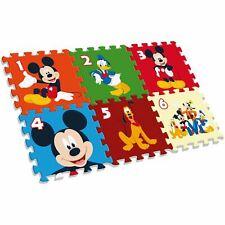 Disney Mickey Mouse Tapis de Jeu Mousse Puzzle 6 Pièces Lavable