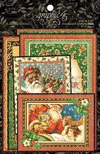 "Graphic45 St. Nicholas Xmas Ephemera Cards 32/Pkg 6x4"" 4x3"" Notizkarten 32 St."