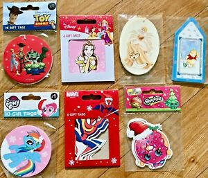 Disney and Marvel Christmas Gift Tags (Various designs)