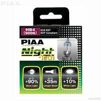 HE-826 PIAA HB4 NIGHT TECH +90% BRIGHTER WHITE BULBS 12V 51W HB4 9006 (x2) ECE