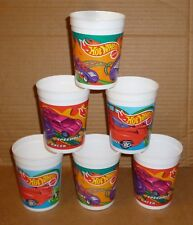 1995 K MART HOT WHEELS 6 PLASTIC CUPS NEW OLD STOCK