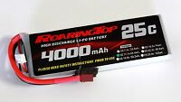 RoaringTop LiPo Battery Pack 25C 4000mAh 3S 11.1V with Deans Plug