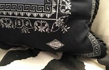 VERSACE PILLOW GREEK KEY THROW NEW in BAG MADE IN ITALY AUTHENTIC SALE
