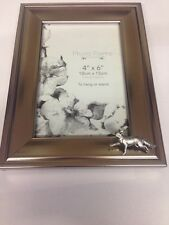 A3 Fox Running PICTURE FRAME SILVER EMBLEM 6X4 , 4x6  HANG OR STAND
