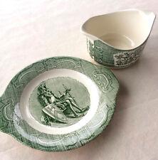 Vintage Royal China The Old Curiosity Shop Gravy bowl boat & Dish Free Shipping!