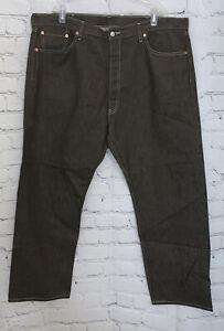 Levi's Men's 501XX Original Fit 42x30 Button Fly Brown Denim Jeans