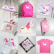Personalised UNICORN Gifts for Girls ANY NAME Magical Rainbow Customized Present
