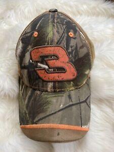 Winners Circle Dale Earnhardt #3 Camouflage Hat Cap Camo Orange NASCAR Adjust