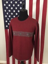 EMS Eastern Mountain Sports 100% Wool Thick Sweater men's LARGE red hiking 19891
