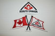 Lot of 2 Canada Quebec Qc Scouts Flag embroidered Iron on Patch Écusson