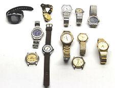 12 Pc Vintage Mens Watch Lot Seiko Chrono+Timex+Sierra Club+Jules Jergensen++++