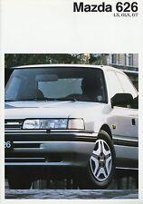 Mazda 626 Prospekt 9/87 brochure 1987 Auto Autoprospekt Broschüre Limousin Coupé