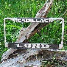 License Plate Authentique Frame, California, LUND Cadillac