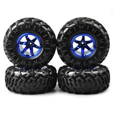4X Rubber Climbing Crawler Tire&Wheel For HSP RC 1:10 Bigfoot Monster Truck Car