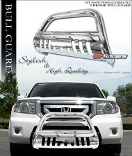 2009-2015 HONDA PILOT STAINLESS CHROME BULL BAR BRUSH BUMPER GRILL GRILLE GUARD