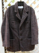 Dolce & Gabbana Men's Wool Mohair Car or Pea Coat Dusty Brown size 50