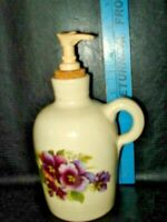Texas  Pottery Marshall Texas Jug,yesteryears pansies lotion dispenser