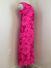 RARE Honolulu Kawika Of Hawaii Ltd Hawaiian Cocktail Hostess Textured Dress Pink