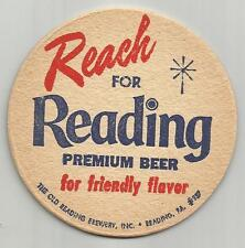 """Lot of 5 1950's Reading Beer Coasters -Reading, Pa """"Reach For #046 """"Friendly"""""""