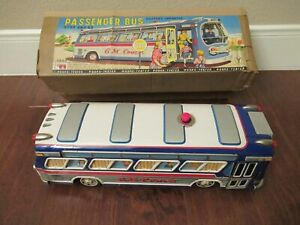 Working & clean Rosko Passenger Bus G.M. Coach Battery Operated w/Original Box.