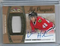 2015-16 Fleer showcase Hot Prospects Rookie patch auto Vincent Hinostroza /499