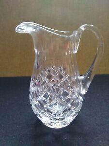 "crystal cut glass mint sauce jug 6"" high"