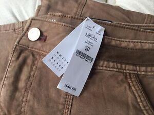 NWT White House Black Market Straight Crop Sandalwood Brown Pants Women Size 6R