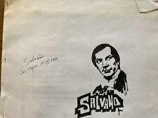 Salvano autographed lecture notes Las Vegas 1985