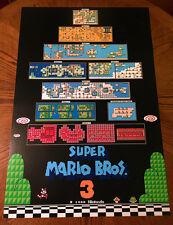 Super mario bros video gaming posters ebay super mario bros 3 nes worlds map huge video game 36 poster print nintendo 80s gumiabroncs Gallery