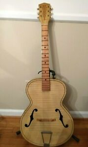 vintage Old Kraftsman/Kay  archtop acoustic guitar cream waved finish
