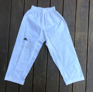 Vintage Adidas Spellout Taekwondo Karate Fighter Jiu Jitsu MMA Pants Sz 1 150CM