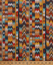 Tribal Southwestern Stripes African Bukhara Cotton Fabric Print BTY D562.14