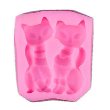 Silicone Baking Fondant Cake Mold Chocolate Clay Resin Mould CAT SHAPE