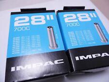 2 X IMPAC Bike Cycle Inner Tubes 700 X 35c - 45c Schrader Valve