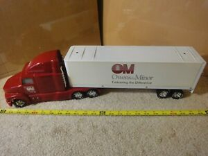 Vintage Nylint Owens & Minor battery operated semi truck, tractor trailer model.