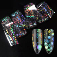 Holographische Nagelfolien Starry Sky Stickers Holo Colorful Nail Art Decals