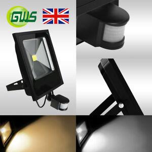 SLIMLINE IP65 LED PIR MOTION SENSOR SMD FLOODLIGHT OUTDOOR SECURITY LIGHTS UK