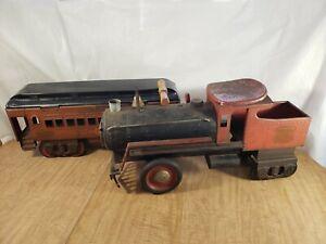 Vintage Keystone R.R. 6400 Steam Engine & Pullman 6800 Passenger Ride Train Toy