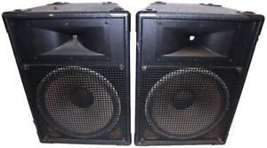 "JBL MR-825 15"" PA Speaker Cabinet Cab Pair"
