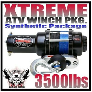 3500LB XTREME ATV Winch Polaris Sportsman 2011-20 400,500,570,800,1000