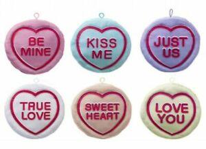 "Valentine gift Sweet Love Heart Gift Cushion 9"" 23cm Retro Plush bedroom Hanging"