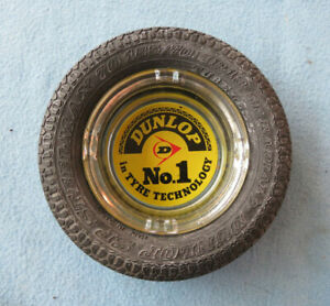 OLD DUNLOP STEEL MAX TYRE PROMOTIONAL ASH TRAY  AUSTRALIA
