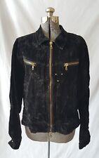 Women's Parasuco ergonomic jeans Denim Suede Jacket Coat Black size XL