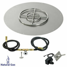 """American Fireglass 36"""" Round Fl 00006000 at Fire Pit Kit with Spark Ignition Natural Gas"""