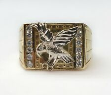 Solid 18K Yellow Gold Eagle Ring for Men 8.9 Grams, Size 9.5